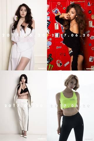 ▲ 이효연, 황리아, 박하, 맹나현(왼쪽 위부터 시계방향)