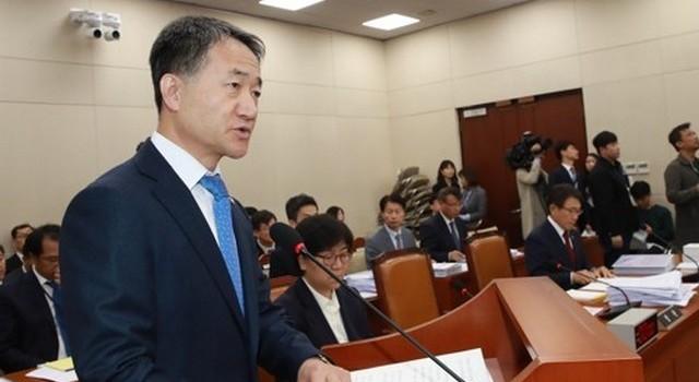 ▲ 박능후 보건복지부 장관이 12일 국회서 열린 보건복지위 국정감사에서 모두발언을 하고 있다. (사진=연합)