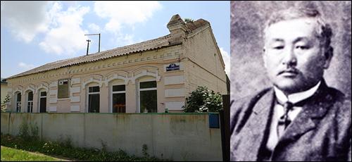 ▲ 우수리스크 시내의 최재형 거주 가옥과 그의 생전 모습