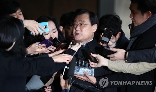 ▲ 검찰 소환되는 이병기 전 국정원장