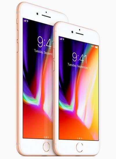 ▲ 액정표시장치(LCD)가 적용된 아이폰8시리즈.