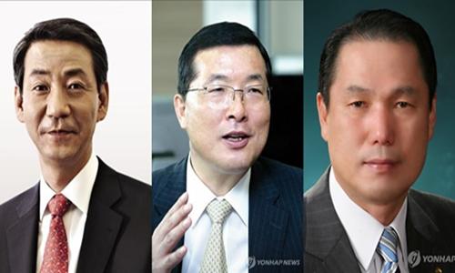 ▲ (왼쪽부터)권용원, 손복조, 황성호 제4대 금투협회장 최종 후보자