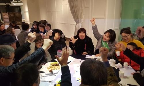 ▲ 서울 은평구 불광2동 도시재생사업을 이끄는 '향림 도시재생계획단' 참가자들이 활동하는 모습.