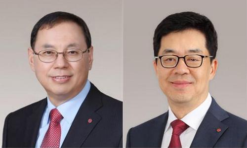 ▲ 조성진 LG전자 부회장(왼쪽)과 박일평 LG전자 사장.