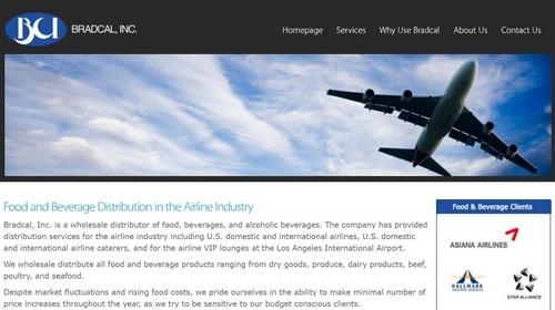 ▲ 아시아나 항공 사외이사로 재직해 논란이 된 브래드 병식 박씨가 CEO로 있는 브래드칼 홈페이지 캡처. 클라이언트 목록에 아시아나 항공이 포함돼 있다.