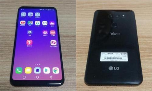 ▲ LG V35 ThinQ 앞면(왼쪽)과 뒷면.