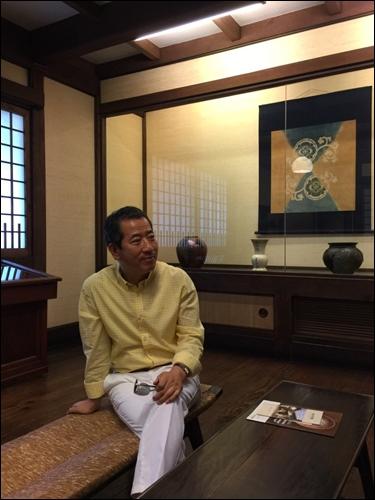 ▲ 도쿄 메구로의 일본민예관 전시실에서.