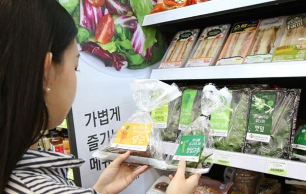 ▲ 식품유통업계가 1코노미를 겨냥한 소용량, 소포장 제품을 선보이고 있다.