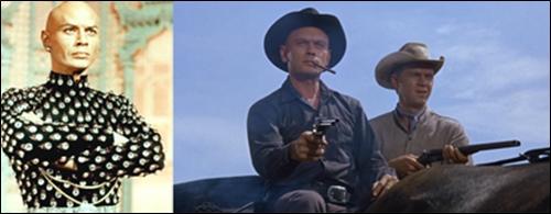 ▲ 젊은날의 율 브린너. 그가 출연했던 영화 '황야의 7인' 한 장면.