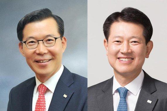 ▲ 조웅기 미래에셋대우 부회장(왼쪽), 최경주 미래에셋자산운용 부회장