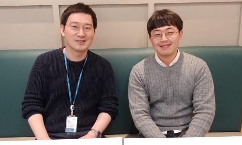 ▲ 이동건 마이리얼트립 대표(왼쪽)와 최동훈 기자.