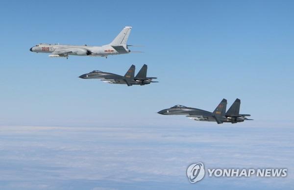 ▲ 중국 공군 H-6K, J-11. 신화 자료사진=연합뉴스