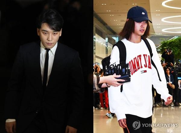 ▲ 빅뱅 멤버 승리(왼쪽)와 정준영