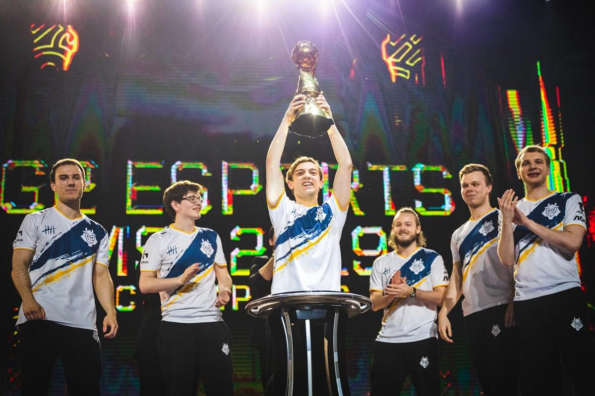 ▲ 2019 LoL MSI에서 우승을 차지한 유럽의 G2 Esports