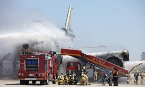 ▲ 인천국제공항 항공기 위기대응 종합훈련 실시