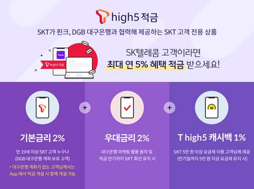 SK텔레콤, 최대 5% 혜택 'T high5 적금' 출시_2.jpg
