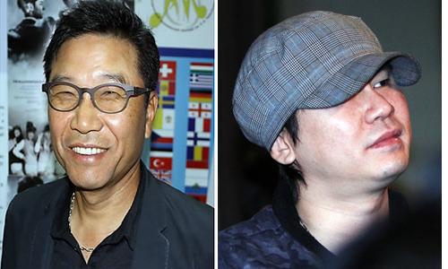 ▲ 이수만 SM 회장(왼쪽)과 양현석 전 YG 대표