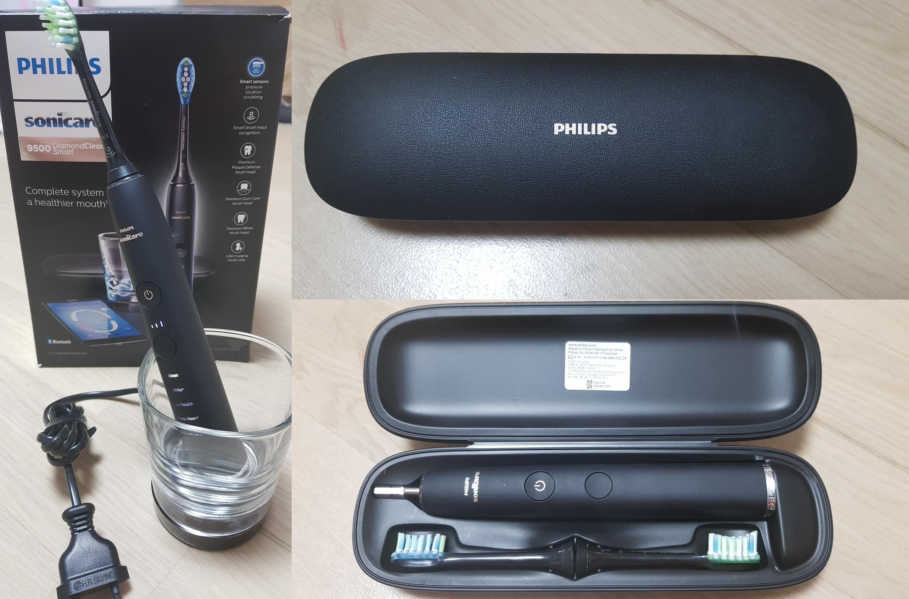 ▲ 칫솔질이 끝나면 무접점 충전컵에 올려놓기만 하면 된다. 또 USB 케이블 충전기가 내장된 휴대용 케이스가 제공된다.