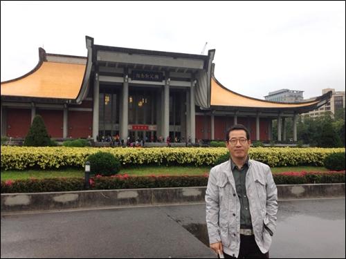▲ 타이베이 시내 국부(쑨원)기념관 정문 광장에서