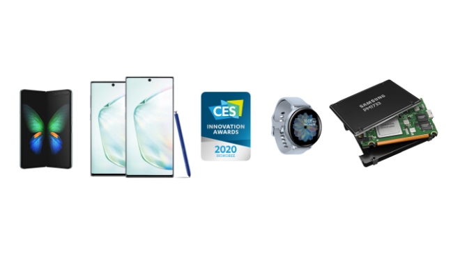 ▲ 세계 최대 가전 박람회 'CES 2020'를 앞두고 미국소비자기술협회(CTA)로부터 혁신상을 받은 삼성전자 제품.