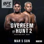UFC209 오브레임, 헌트 니킥으로 격침 명장면.. 이번에도 우위 '이젠 타이틀 경쟁으로'