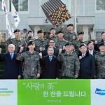 박정원 두산그룹 회장, 최전방 군부대 위문 방문