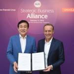 김정태 하나금융회장, 미 IT기업 오라클과 'GLN' 파트너십 체결