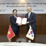 정영채 NH투자증권 대표, 베트남 증권업 라이센스 취득