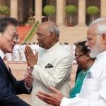 문재인 대통령, 모디 인도 총리와 정상회담 시작