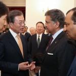 문대통령, 한·인도 CEO들과 한자리…한·인도, 자동차 등 5개 분야 협력