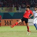 김학범호, 아시안게임 조별리그서 말레이시아에 1-2 패배
