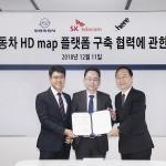 쌍용차, SK텔레콤·히어와 자율주행차 핵심 기술 개발 MOU 체결
