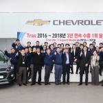 한국지엠, 트랙스 3년 연속 수출 1위 기념 행사