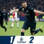 '아센시오 결승골' 레알마드리드, VAR에 무너진 아약스에 2-1 승리
