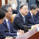 """홍남기 """"경제성장률 목표치 수정계획 없다"""""""
