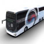 현대차 '2층 전기버스' 최초 공개…300km 주행·충전 72분