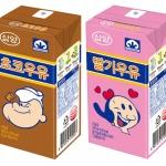 삼양식품, 고칼슘 '뽀빠이 멸균우유' 2종 출시