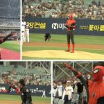 스파이더맨 야구장 접수 완료…역대급 팬서비스 화제