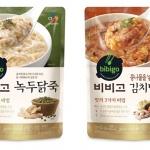 CJ제일제당, 비비고 녹두닭죽∙김치낙지죽 출시