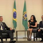 최신원 SK네트웍스 회장, 보우소나루 브라질 대통령과 환담