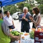 정영채 NH투자증권 사장, 농산물 직거래 행사 참석