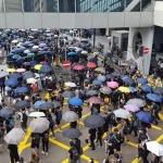 홍콩 시위대, '송환법 반대' 동맹휴학∙총파업 돌입