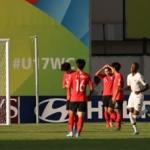 한국, U-17 월드컵 2차전서 프랑스에 1-3 패배