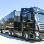 현대차, 대형트럭 고속도로 군집주행 국내 최초 시연 성공