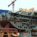 10월 한국 조선업 수주액·수주물량 1위