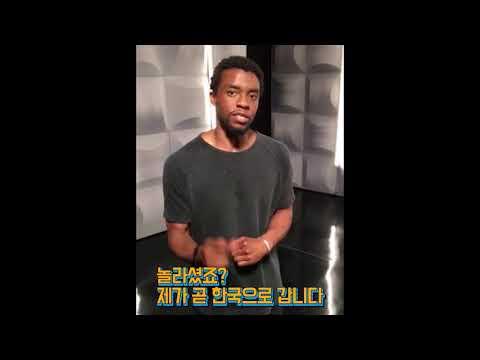 [영상] '블랙팬서' 내한 확정, 채드윅 보스만 예고영상까지 '마블이 사랑한 한국'